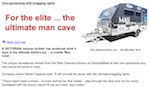 Carvanning News, Reports On The Man Cave Article